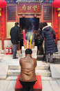 Chinese New Year celebrations and prayers (Year of the Pig). Royalty Free Stock Image