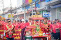 Chinese new year and chinese dragon parade hua hin thailand february the colorful of on the petchkasem road central of hua hin Royalty Free Stock Images