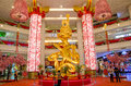 Chinese new year decoration in berjaya times square kuala lumpur malaysia february of the the centre court of the Royalty Free Stock Images