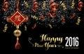 Chinese new year 2016 decoration firework night
