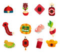 Chinese New Year decorative elements Stock Image