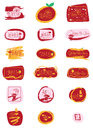 Chinese New Year English golden glitter sign set