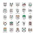 Chinese New Year Flat Icons Set