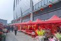 Chinese new year flower market fair this picture shows flowers and decorations in liuzhou china january Royalty Free Stock Photo