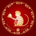Chinese New Year Golden Monkey...