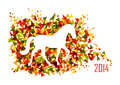 Chinese new year of the Horse shape triangle EPS10 file.