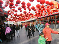 Chinese new year market in the beijing city in china Royalty Free Stock Photos