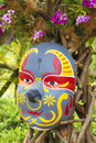 Chinese new year mask at the park Stock Image