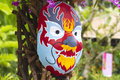 Chinese new year mask at the park Stock Photography