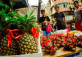 Chinese new year metro manila philippines january street vendor selling assorted fruits for good luck a week before the annual Stock Images