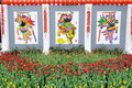 Chinese new year paintings Royalty Free Stock Image