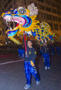 Chinese new year parade san francisco feb an unidentified participants in a dragon dance at the in san francisco california on Stock Images
