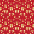 Chinese New Year red waves pattern Royalty Free Stock Photo