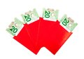 Chinese new year red packets with canadian dollars Stock Image