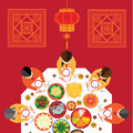 Chinese New Year Reunion Dinner Royalty Free Stock Photo