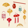 The Chinese new year's lantern Royalty Free Stock Photo
