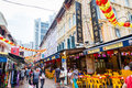 Chinese New Year Shopping in Singapore Chinatown Royalty Free Stock Photo