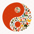 Chinese New Year of the Snake yin yang Stock Photography