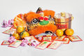 Chinese New Year table top display isolated Royalty Free Stock Photography