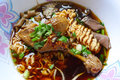 Chinese noodle the with duck meat Stock Photo