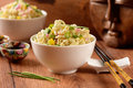 Chinese noodles in bowl Royalty Free Stock Photo