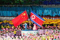 Chinese North Korean friendship at Arirang Mass Games Royalty Free Stock Image