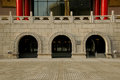 Chinese old entry gates in the afternoon Royalty Free Stock Photo