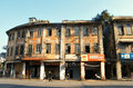 Chinese old house shops and houses building in historic guangzhou city china Royalty Free Stock Image