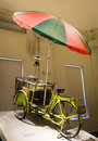Chinese old mobile food bike with umbrella Stock Photo