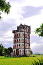 old Architecture In the field ,Chinese old tourism building, overseas Chinese residence,canton Royalty Free Stock Photo