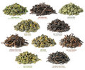 Chinese oolong tea collection Royalty Free Stock Photo