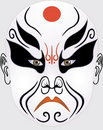 Chinese opera face Royalty Free Stock Images