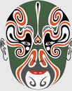 Chinese opera face Royalty Free Stock Photos