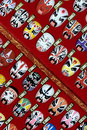 Chinese Opera Masks - diagonal  Stock Images
