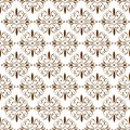 Ornamental Oriental Brown Floral Beautiful Royal Vintage Spring Abstract Seamless Pattern Texture Wallpaper
