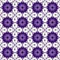 Ornamental Oriental Blue Purple Violet Floral Beautiful Royal Vintage Spring Abstract Seamless Pattern Texture Wallpaper