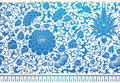 Chinese ornament blue oriental floral Royalty Free Stock Photo