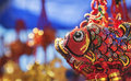 Chinese ornament market new year s celebration Stock Photos