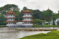 Chinese pagoda in Chinese Garden. Royalty Free Stock Photography