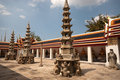 Chinese pagoda style in Thai temple . Stock Photo