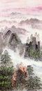 Čínština maľovanie z vysoký hora