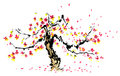 Chinese painting of sakura Stock Photo