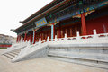 Chinese palace in temple Royalty Free Stock Photo