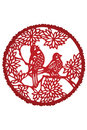 Chinese paper cut-bird Stock Photo