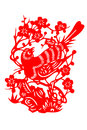 Chinese paper cut bird is a picture on a with scissors the picture patterns are often pasted on the lintels windows or lanterns to Stock Photo