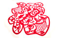 Chinese paper cutting-character FU Stock Photography