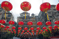 Chinese paper lanterns in chinese new year, Yaowaraj china town Royalty Free Stock Photos