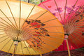 Chinese parasols. Stock Images