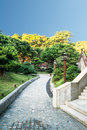 Chinese park in hongkong Stock Photo