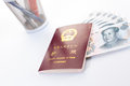Chinese passport we accept all major credit cards from china Stock Image